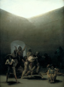 Yard with Lunatics by de Goya (1794)